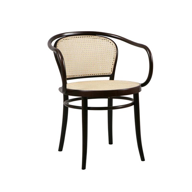 New Design Restaurant Rattan Armchair Outdoor Wicker Coffee Shop chair Dining Chair
