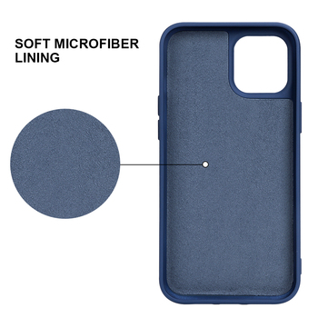 2020 Hot Selling Anti-fingerprint Scratch-resistant Liquid Silicone Case for iPhone 11 With Soft Microfiber Lining