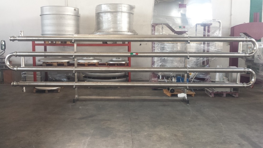TUBE IN TUBE HEAT EXCHANGER FOR WINE