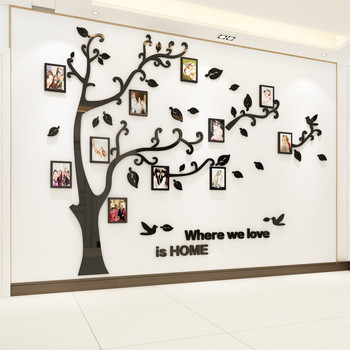 3D Tree DIY Photo Frame Tree Wall Home Decor Decal Family Photo Frame Sticker Murals Wall Decor Wall Stickers modern 3D(S)