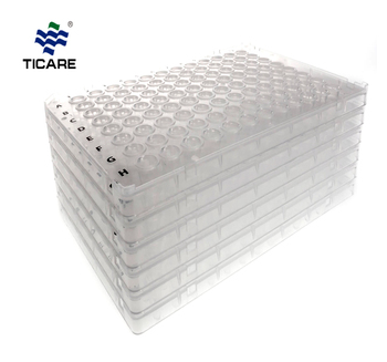 Chemical Transparent Plastic 48 96 Well PCR Plate for Lab