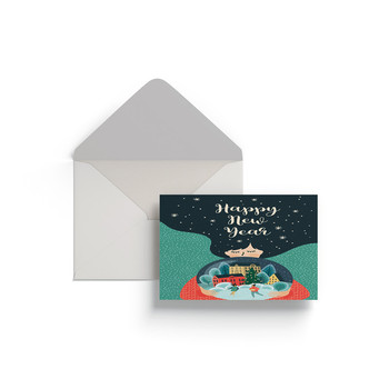 Bulk Eupore Popular Fashion Green Christmas Design Gift Note Post Paper Card