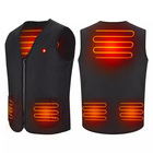 Waterproof Unisex Womens Mens Warming Smart Battery Vest Rechargeable USB Heating Vest Jacket Heated Vest For Winter