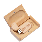 Pen Drive JASTER Usb Flash Pen Drive Usb2.0 Wooden Usb With Box 4GB 8GB 16GB 32GB Memory Stick Free Custom LOGO U Disk For Wedding Gift