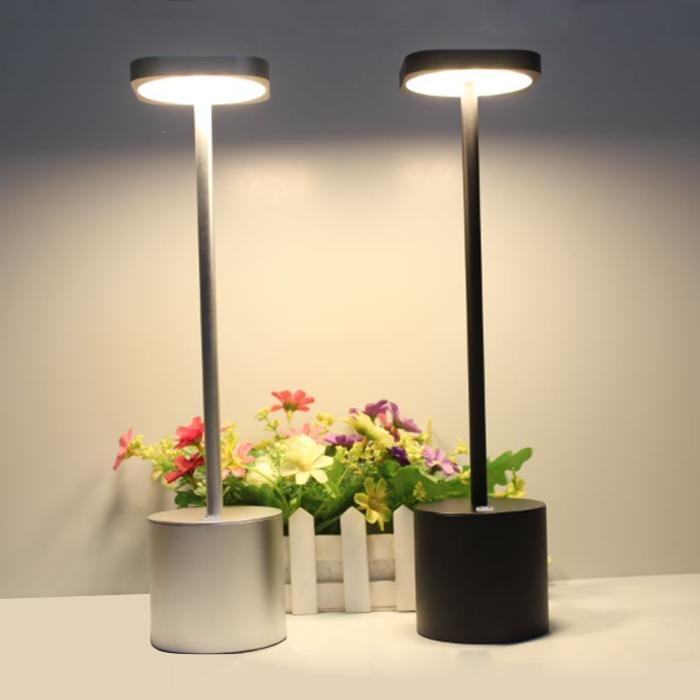 Современный отель стиль USB аккумуляторная батарея настольная лампа алюминиевая LED беспроводная ресторанная настольная лампа в золотом, серебристом, черном цвете