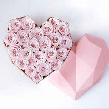 Yunnan Floral Factory Supply Heart shaped box Preserved rose natural rose valentine gifts