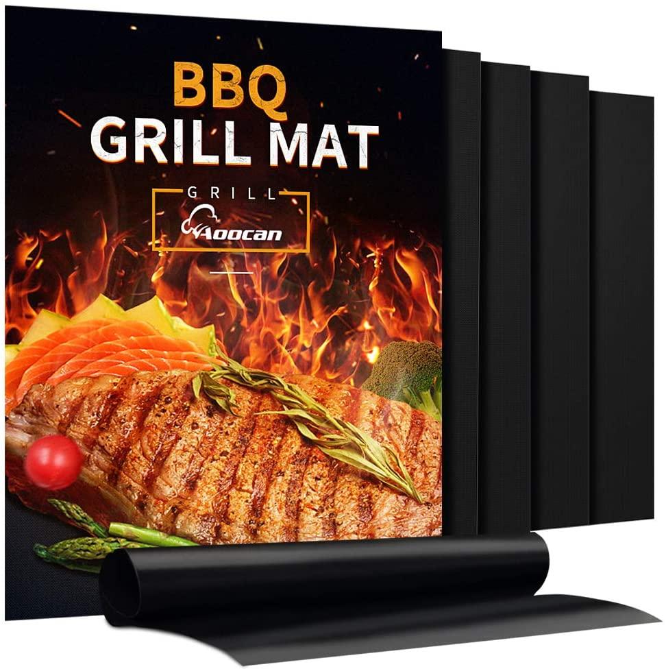 2020 hot sale non stick heat resistant PTFE BBQ grill mat sheet liner