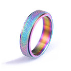 Titanium Rings Titanium Vintage Simple Hippie Punk Style Spinner Frosted Matte Colorful Titanium Rings For Girls