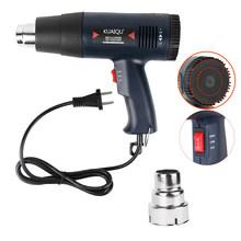 Пистолет горячего воздуха для пайки, фен для пайки, сушилка для волос с контролем температуры, 7 насадок, 220 В, 1800 Вт от KUAIQU(Китай)