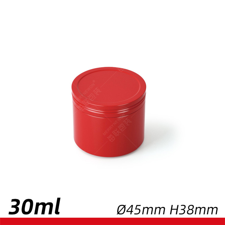 30g 30ml cosmetic aluminium packaging colourful candle jar coffee tin tea tin canister with screw lid