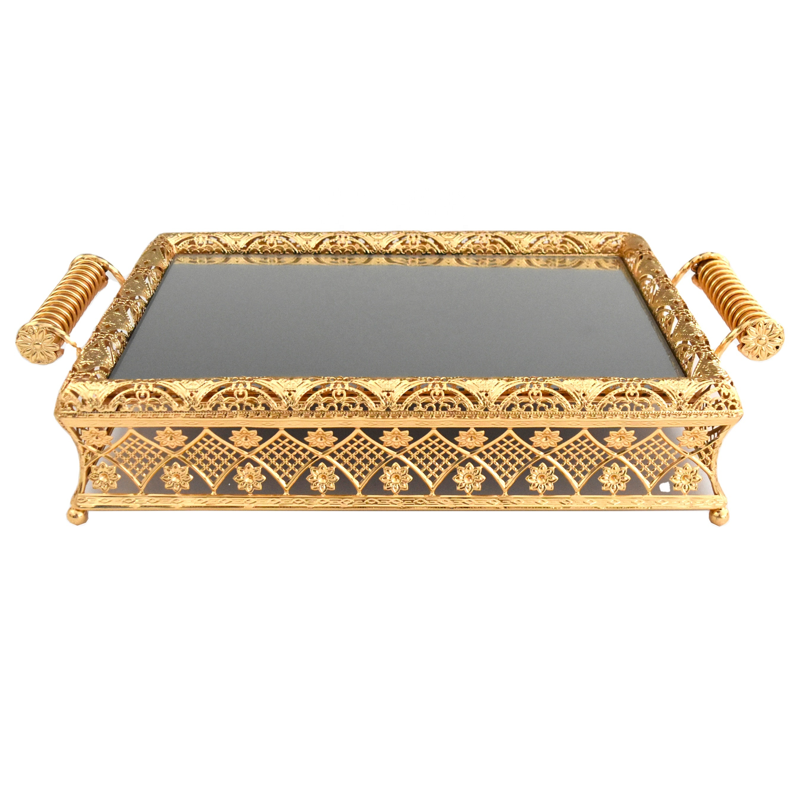 Metal Gold Plated Home Decorative Mirror Fruit Serving Tray With Handle Buy Silver Plated Serving Tray With Handles Metal Mirror Fruit Serving Tray Decorative Metal Trays Product On Alibaba Com