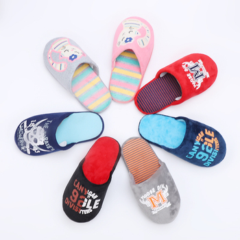 Winter children's slippers super soft velvet children's shoes and slippers warm slipper cartoon