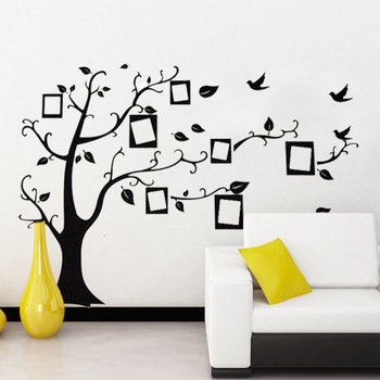 Photo Tree Wall Stickers Removable Wallpaper DIY Living Home Decoration 70x120cm