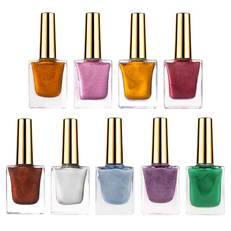 OEM собственная Марка в наличии 2021 новый дизайн ногтей 6 цветов жидкие чернила с эффектом металлик мрамор УФ гель лак для ногтей Набор 15 мл