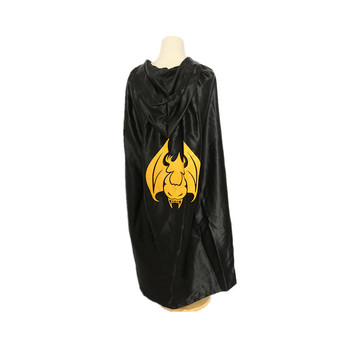 Cosplay Kids Robe Death Cloak For Halloween Costume Cloak Black Outfit