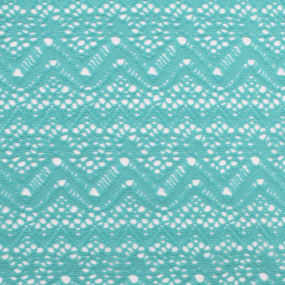 Hot-sale weft knitting jacquard mesh fabric for swimwear bikini dress