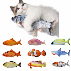 eco friendly natural organic  electric toys for cats, cute cat toys, dancing fish cat toy