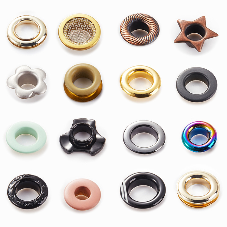 Custom High Quality Garment Copper Brass Metal Eyelet For Boots Clothing Paper Bag Hat