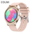 Exercise Smart Watches Round Watch Pink Phone 2020 Best Cheap Trending Thermometer Smartwatch Bt Calling Woman New Arrived