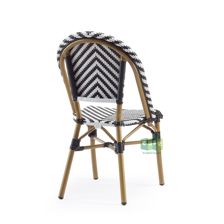 French bistro rattan chairs outdoor dining bamboo look wholesale for cafe restaurant E3007