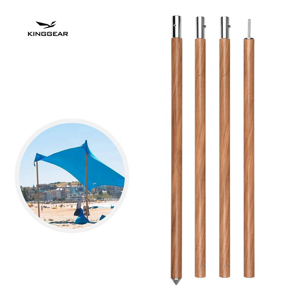 Брезентовый полюс KingGear для кемпинга с деревянным узором