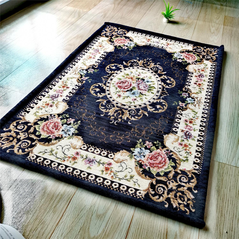 Flower Pattern European Carpet Living Room Big Area Rug Home Door Mat Rugs