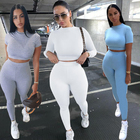 Sports Women 2 Piece Set KSX1738131 Long Sleeves Tracksuits Women Yoga Sports 2 Piece Set