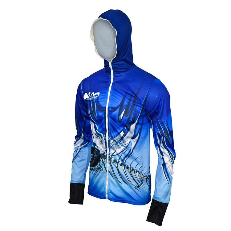 Сублимационная печать индивидуальный дизайн УФ-защита для рубашка с длинными рукавами рубашка с капюшоном
