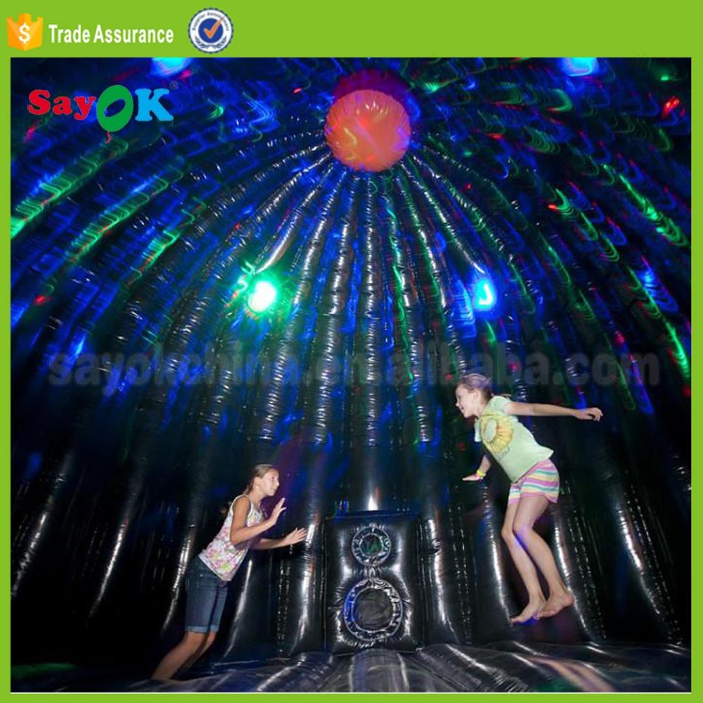 Надувной домик для дискотеки со светодиодной подсветкой, надувной домик-батут