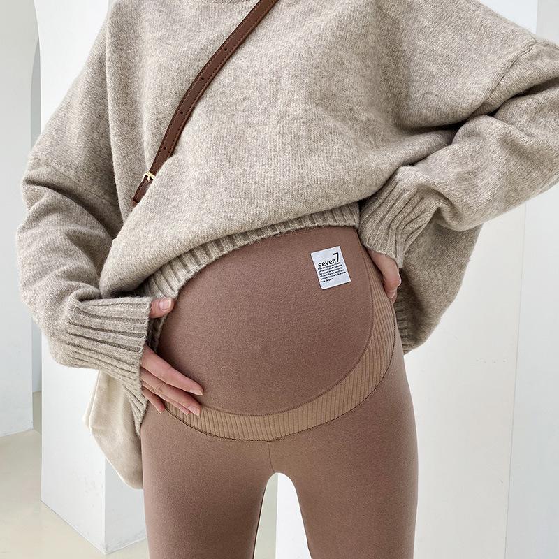 Роскошные 1018PP связывающие ноги брюки большого размера для беременных