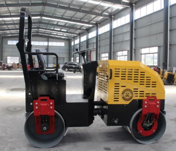 Hydraulic compactor 1ton ride on road roller specification double drum compactor