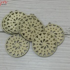circle round flower wood earrings accessories wooden carving and crafts