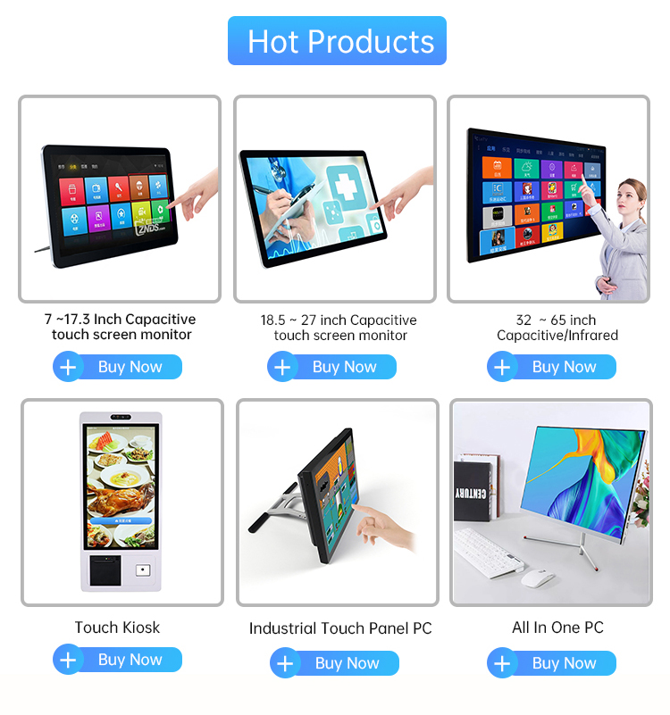 """7mm Ultra thin bezel 10"""", 10.1"""" capacitive monitor touch screen run with Android/Win"""