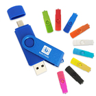 Wholesale OTG USB 2.0/3.0 pen drive 2GB 4GB 8GB 16GB 32GB colorful otg usb flash drive swivel memorias usb