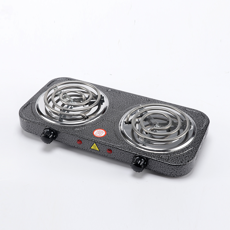 Недорогая настольная электрическая плита с двойной горелкой 2000 Вт