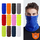Color Scarf Blue Black White Yellow Red Gray Navy Blue Brown Orange Green Cycling Scarf Wholesale Neck Gaiter Headband Multifunctional Solid Color Cycling Print Face Scarf Seamless Magic Tube Bandana Custom Logo