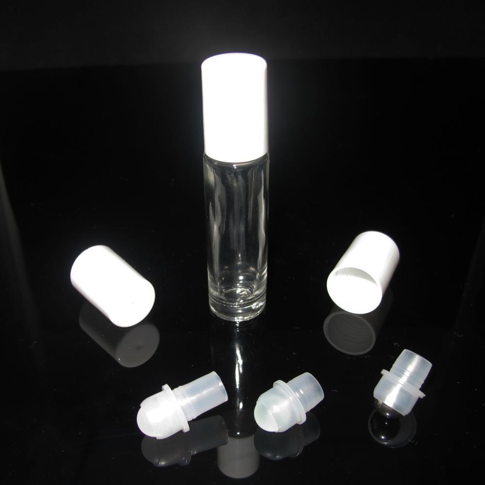 10 мл прозрачный стеклянный рулон эфирного масла на бутылке со стеклянным роликовым шариком