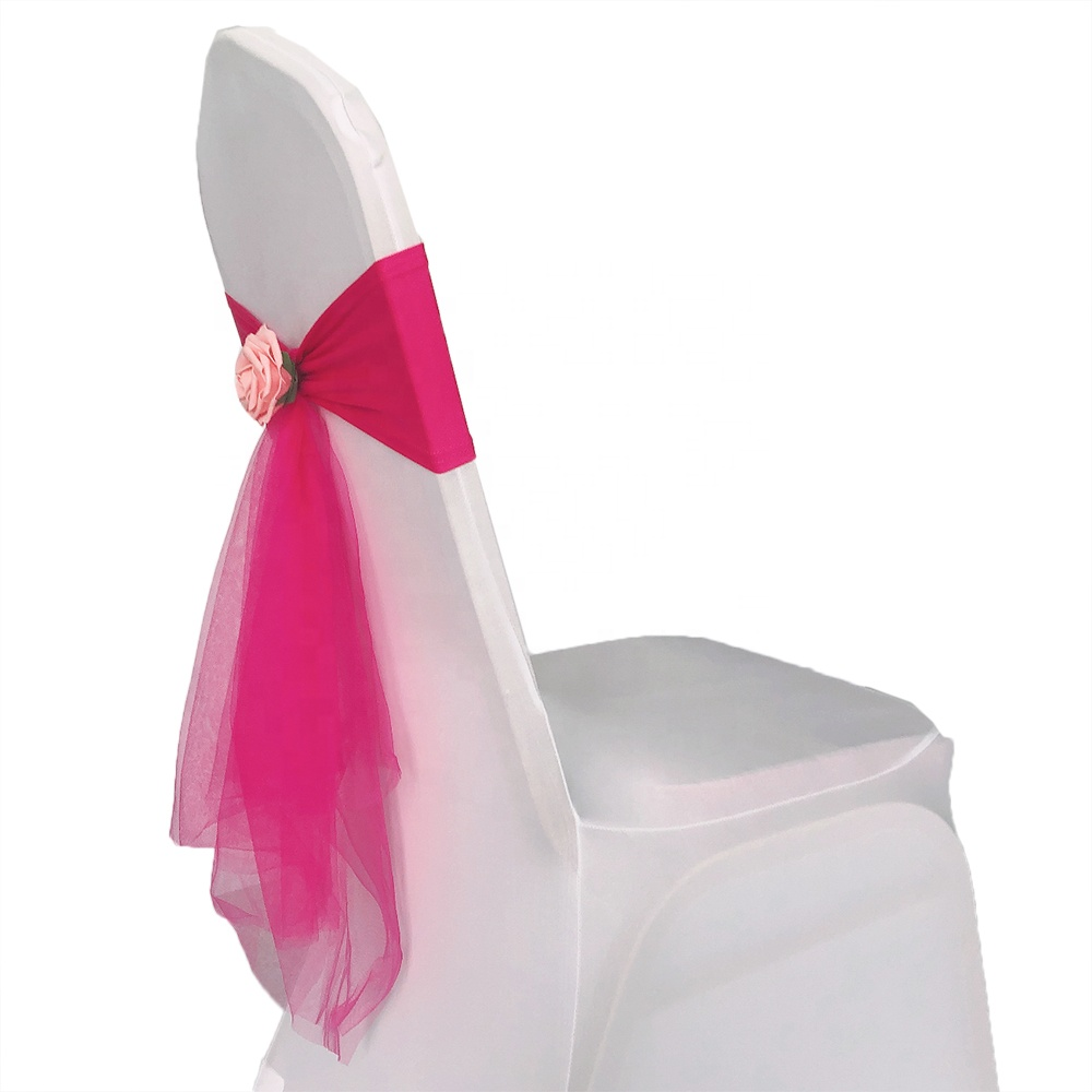 Stretch Spandex Chair Sashes Chair Bands for Wedding Hotel Banquet Party Decorations