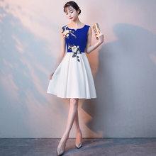Платья для выпускного вечера 2020 It's Yiiya R260 элегантные платья для вечеринок с аппликацией трапециевидной формы с круглым вырезом без рукавов ...(Китай)