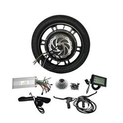16-дюймовый 48 вольт электрический колеса мотоцикла е-скутер способный преодолевать Броды набор колесного мотора lkz