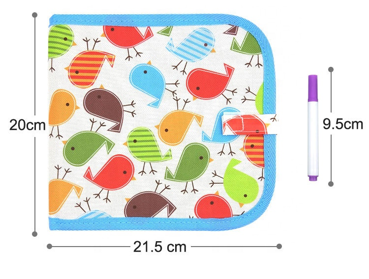 Amazon hot sales Kids Drawing book Portable Erasable Mess-Free Chalk Dust-Free Doodle Board Drawing Book for kids