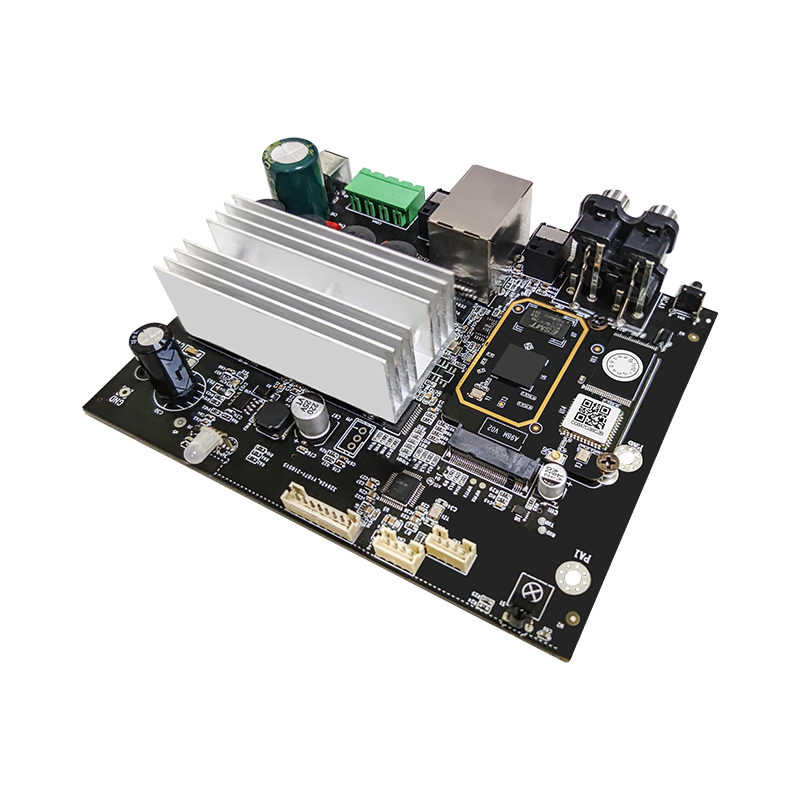 High power wifi 2.4G 5G  USB  optical  2  * 100w BT5.0 audio amplifier board with airplay2 audio receiver module