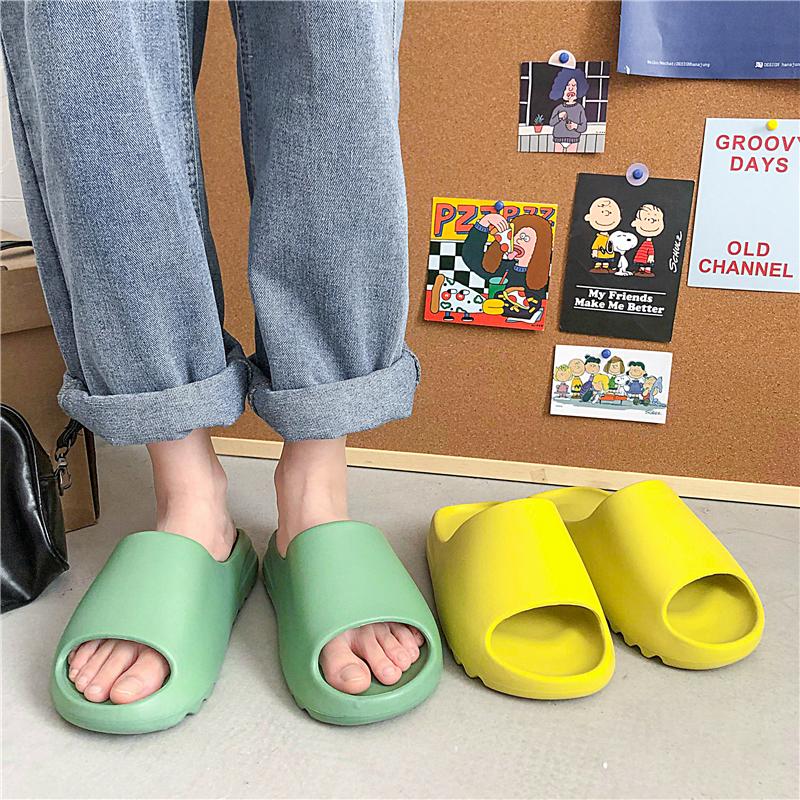 Candy color High Quality logo Custom Slides Ladies Men EVA Slides Shoes Women beach sandals Slippers