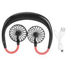 Вентилятор для шеи без рук, 3-скоростной охлаждающий вентилятор, мини USB Перезаряжаемый подвесной вентилятор для кондиционера для дома, заня...(Китай)