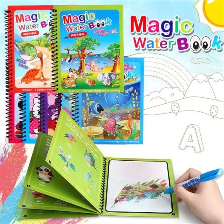 Sensory Early Education Toys for Kids Birthday Gift Water Drawing Book Reusable Coloring Book painting book Montessori Toys