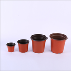 Two-color fleshy flowerpot green gardening supplies soft suction plastic simple nursery plastic two-color floret basin