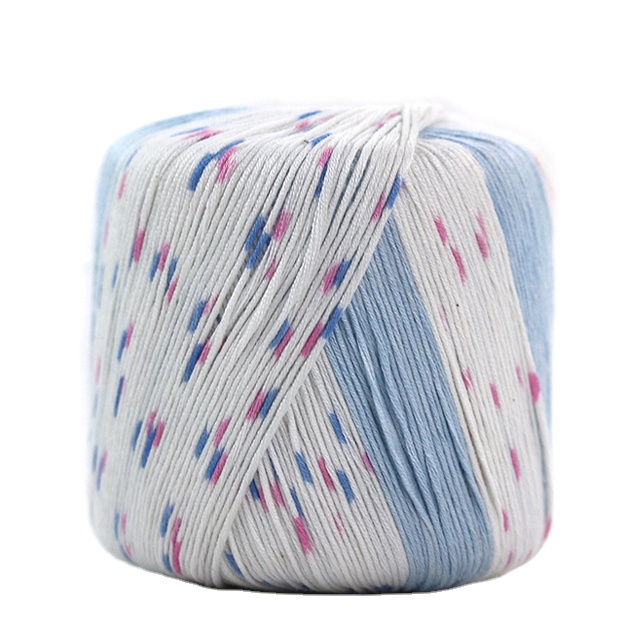jiangsu cotton bamboo blend yarn mill huicai textile supply cotton bamboo melange skein yarn