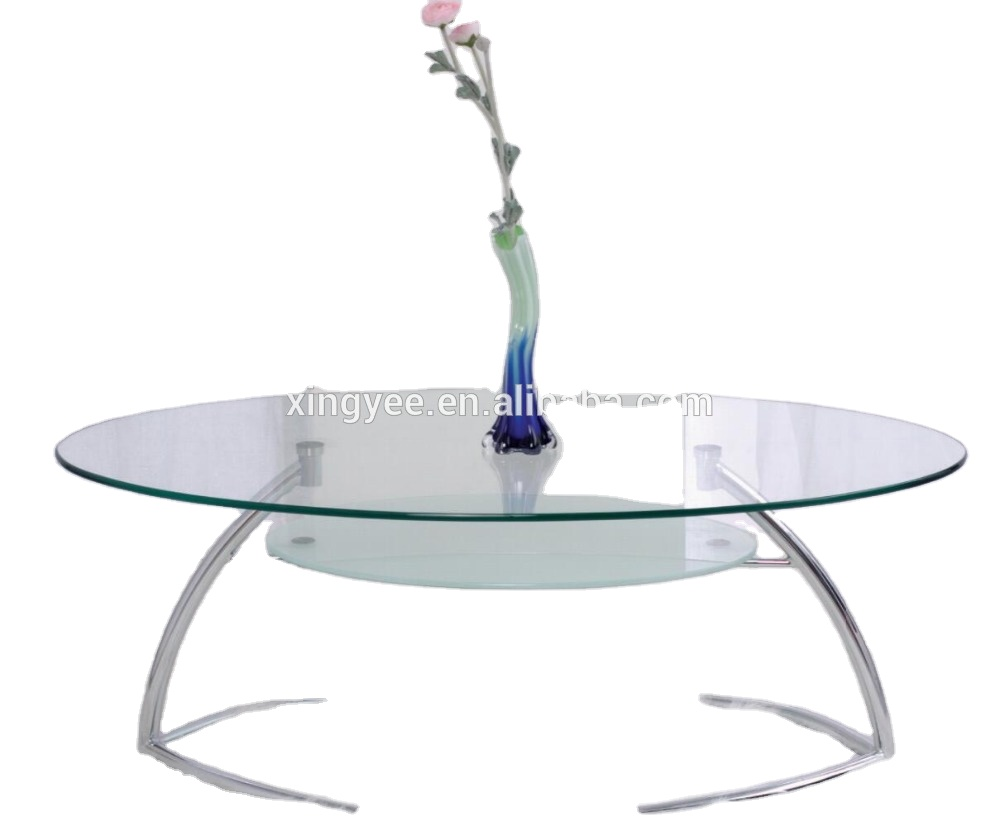 Modern Living Room Home Centre Furniture Tempered Glass Sofa Tables Chromed Steel Oval Shape Coffee Table Buy Coffee Table Glass Oval Coffee Table Sofa Center Table Product On Alibaba Com