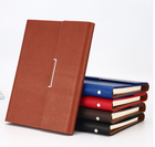 School Custom A4 Hardcover Faux Luxury School Leather Notebook Diary Journal
