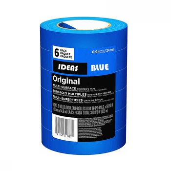 "Blue Original Multi-Surface Painters Tape Medium Adhesive Well Masking Tape No Residue Behind 0.94"" x 60yds 6packs"